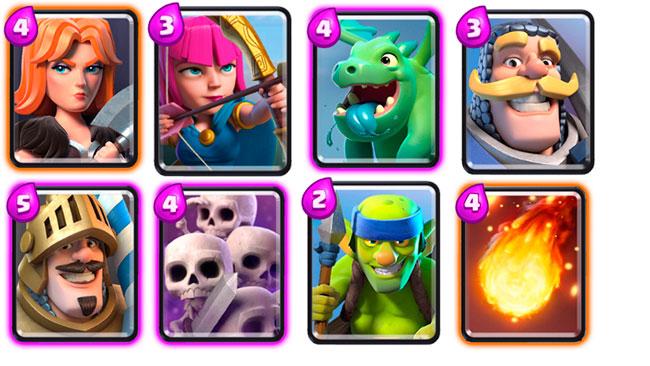 Восемь карт из колоды для новичков в Clash Royale