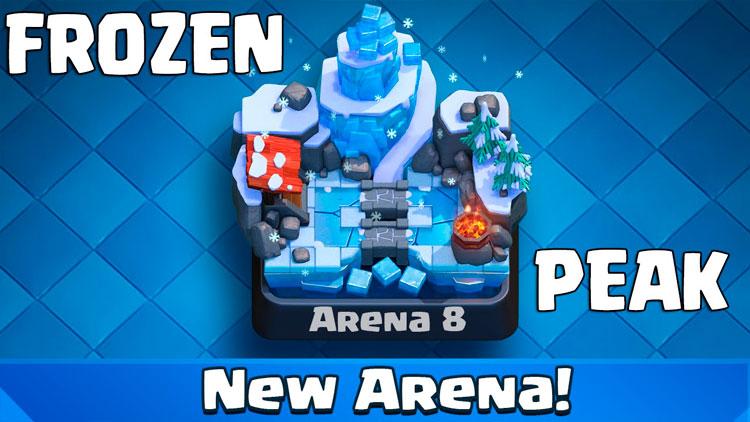 новая арена ледяной пик в Clash royale